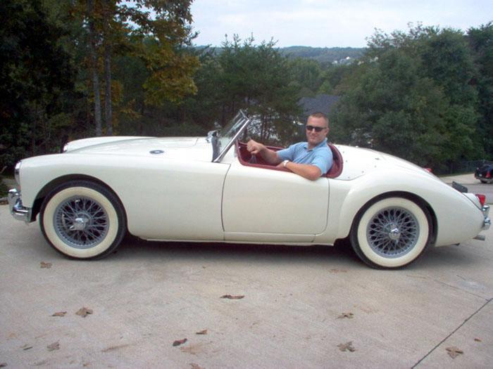 Purchased the car on October 14th, 2004 in Chattanooga, Tennessee, USA.Rick drove (by himself) 2,100 miles (without a top)back to San Bernardino, California, USA.(The whole trip took 12 days!)