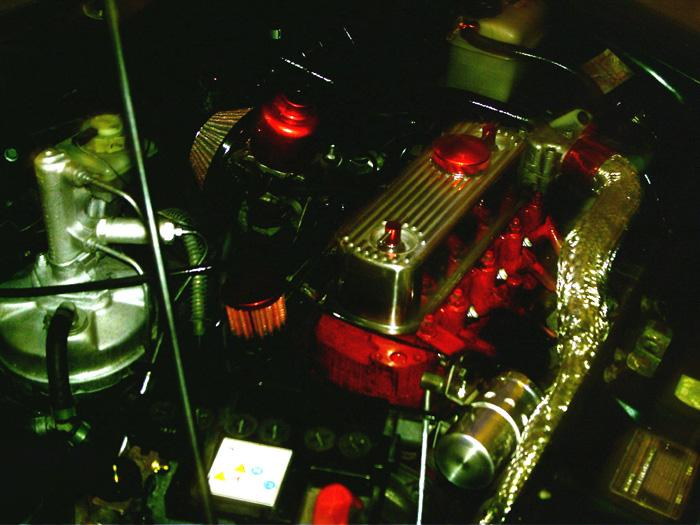 Underbonnet nice clean engine