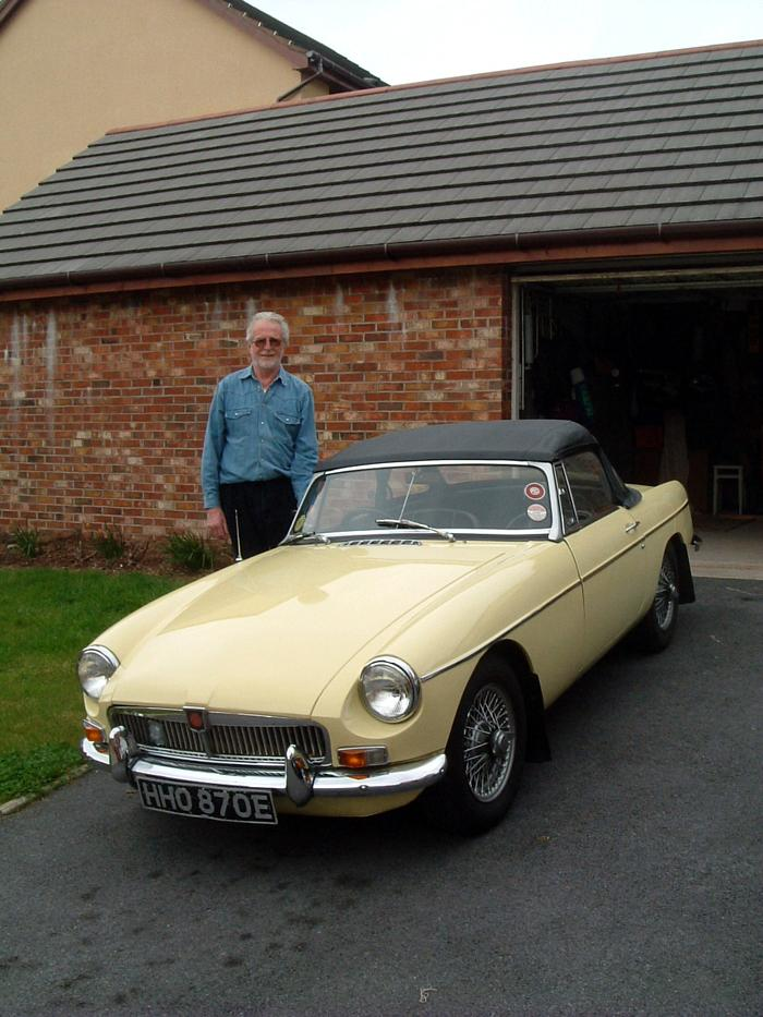 I have longed for a MG Roadster for years and this my present from myself for my 65th birthday