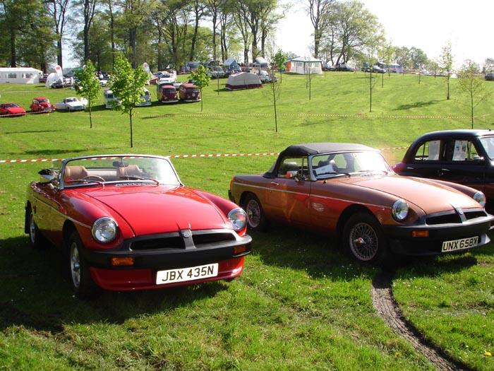 Are there any other brothers out there with two superb roadsters like these two?  One is a totally original 1981 LE and the other is a totally restored 1975 roadster. Bring on the fine weather, but the sun always shines in South Wales.  Except the Swansea event in May!  Tractors were the order of the day then.