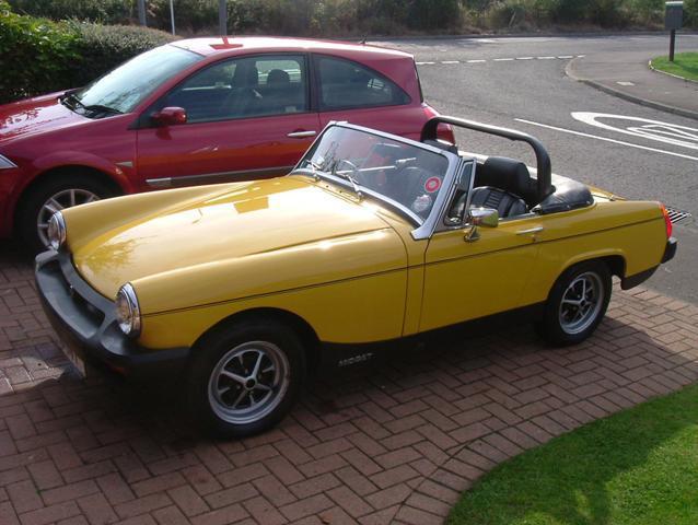 This is my Inca Yellow 1978 1500 Midget.