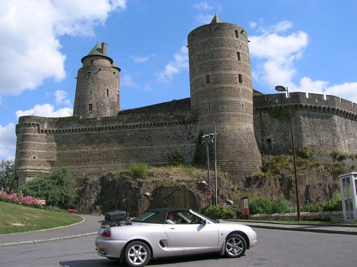 20th century meets 11th century at Fougeres castle in Brittany.