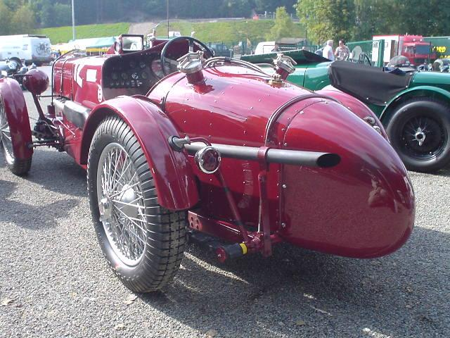 """Rear shot of MG K3- taken after practice at the """"Spa Six Hours"""" races in Francorchamps (September 23, 2005)"""