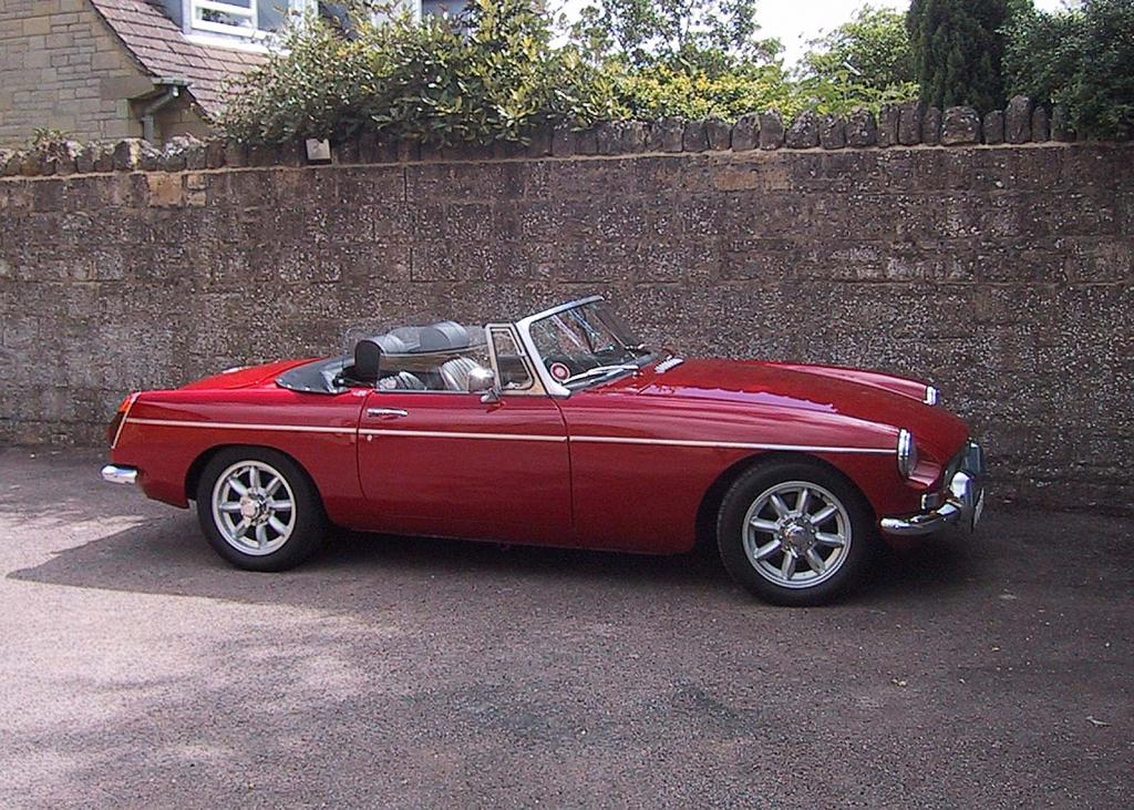 My MGB photographed on a trip to the Cotswolds