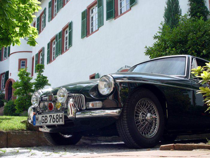 """1968 MGB GT Mark II (RHD Home Market Model) - Ex-Poole-MG """"Emma"""" posing for the """"British Classic Car"""" magazine… Over 11 years of extensive restoration paid at the end of the day!"""