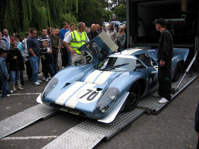 Le Mans Lola being unloaded for the show Sept 2005.