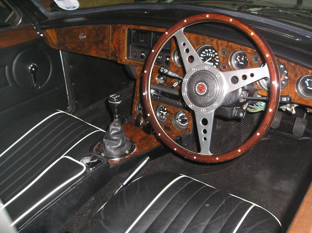 Renovated interior of my MGBGT
