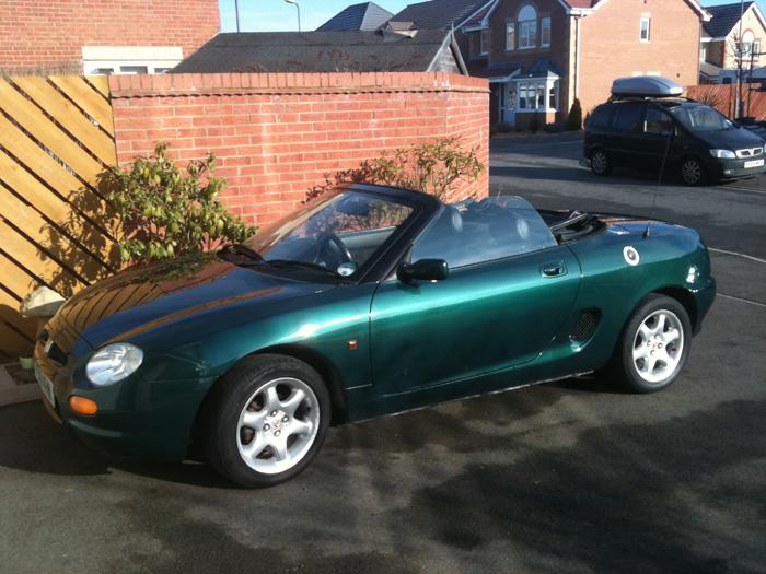 My 1996 MGF first registered in UK 2001, Has only 28000 miles , 6000 of which was outside UK, it is need of TLC , which I will give her