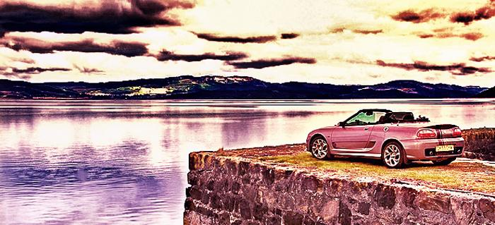 MG 85th Anniversary edition on the Highlander event at Otter Ferry Quay