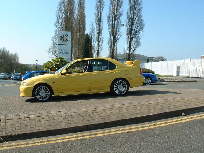 My ZS 180 at Longbridge on the plinth outside Q gate