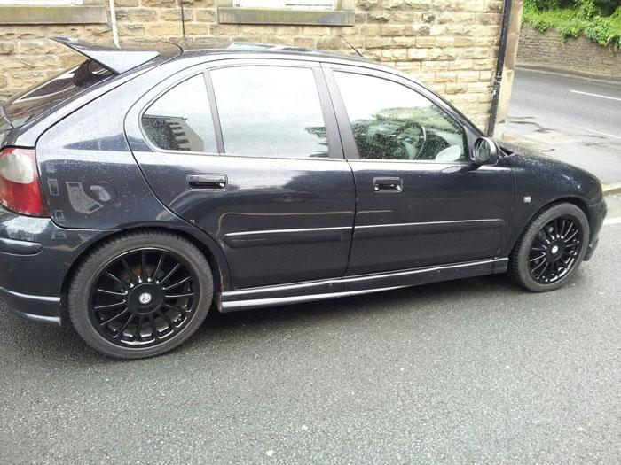 my new wheels as the others where normal alloy colour did them myself