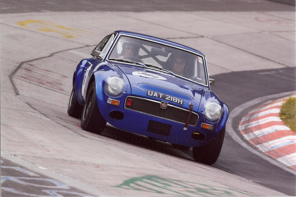 My 'C' rounding the Karussel at the 2011 ADAC Eifelrennan competition