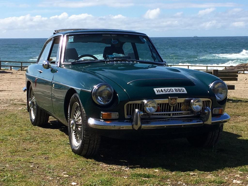 My C GT now enjoying Spanish historic vehicle registration. On the coast near home.