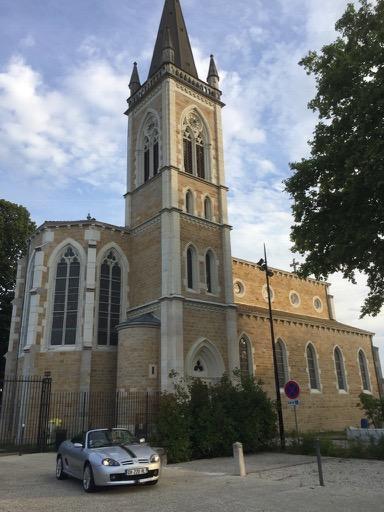 MG TF @ Sathonay Village, France Church