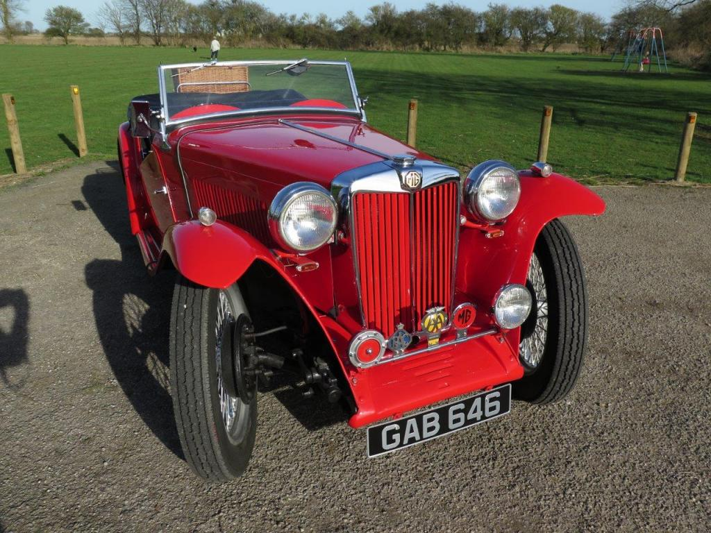 My 1947 MG TC in park