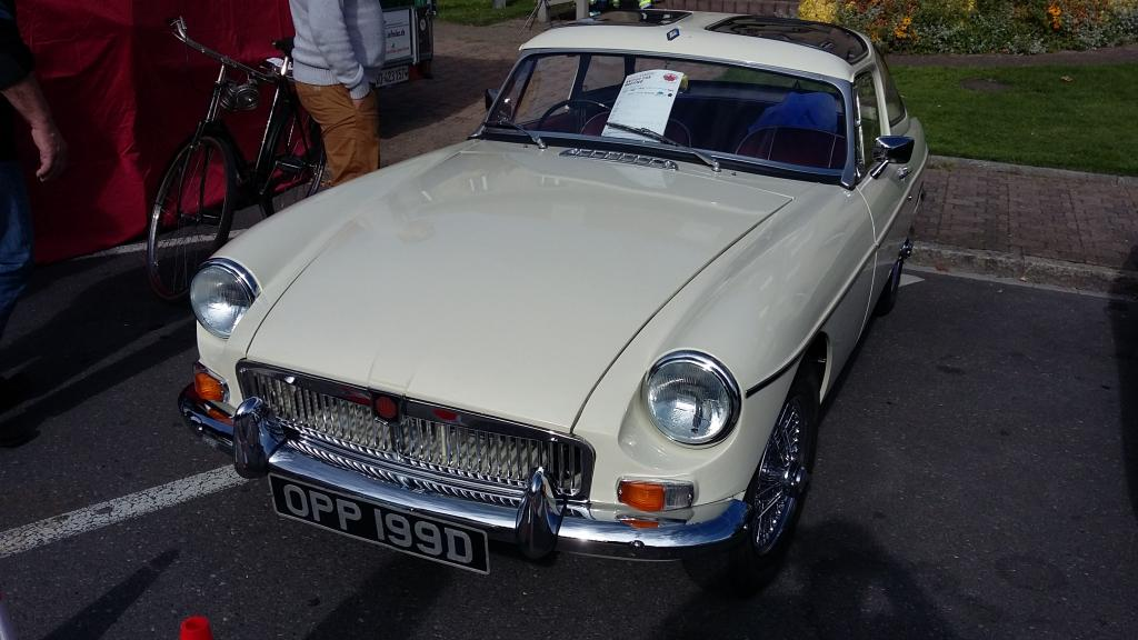 MGB with special hard-top seen at Morges 2017